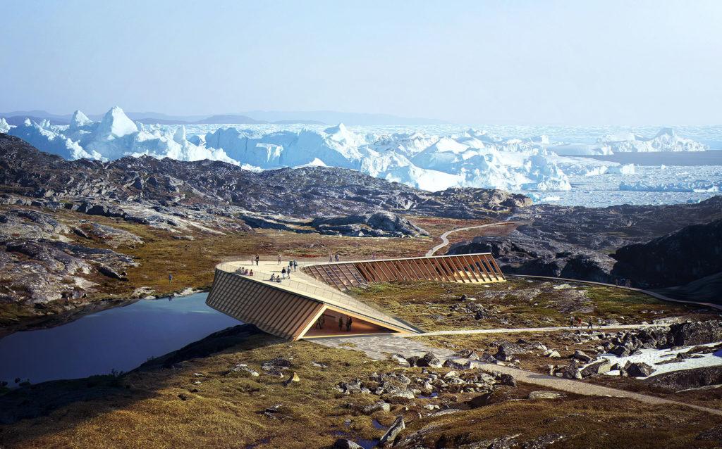 """Som """"en sneugles flugt gennem landskabet"""" – tanken er, at bygningen skal påvirke det skrøbelige landskab mindst muligt (billedkreditering: Image by Mir)"""